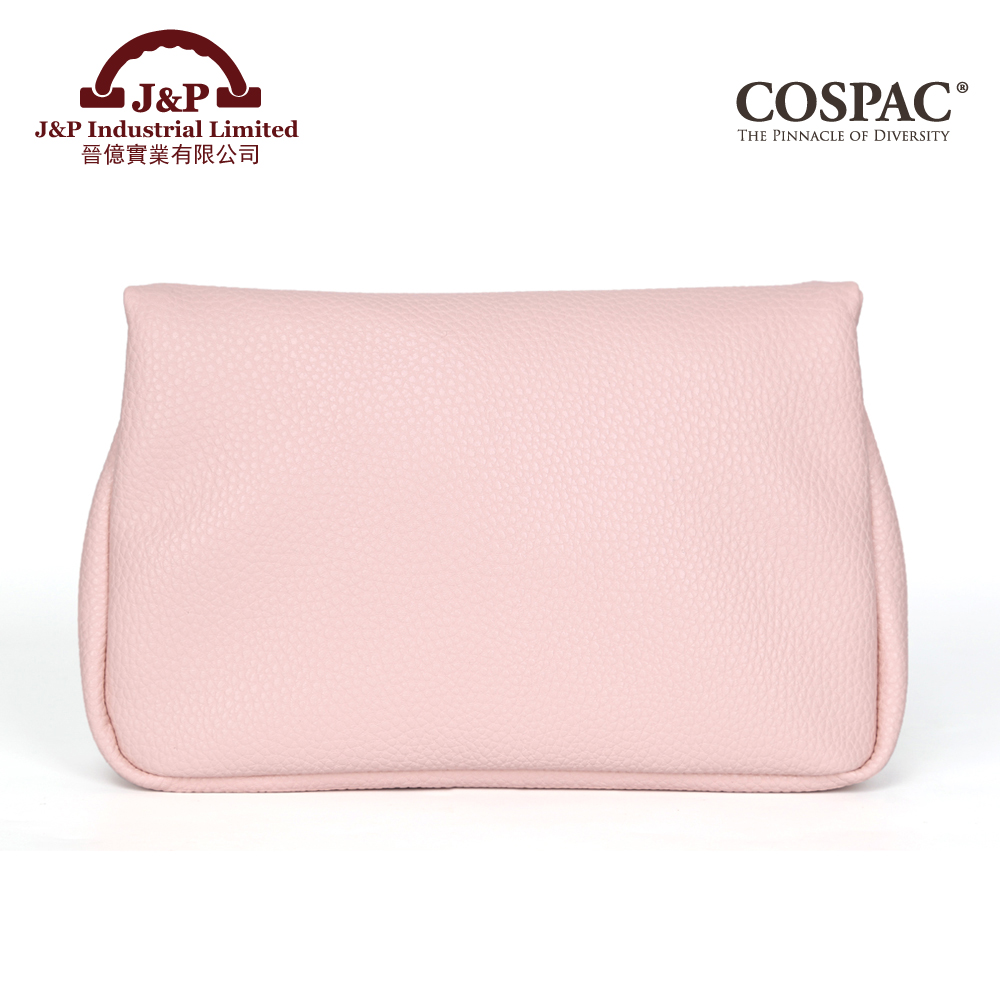 Cheap price travel pink pu leather cosmetic case pouch bag