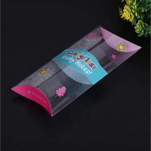 Custom clear plastic pillow shaped packaging box for sweet and candyfloss