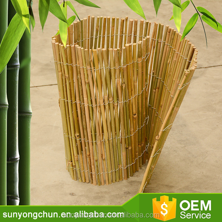 top quality cheap fence panels white Bamboo Fencing for small garden
