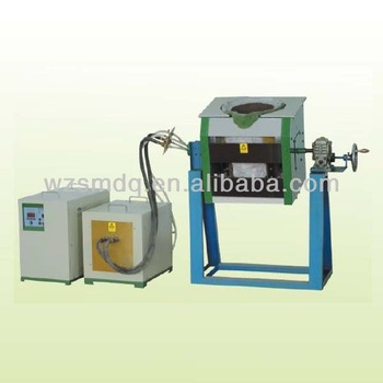 Tilting induction melting furnace machine