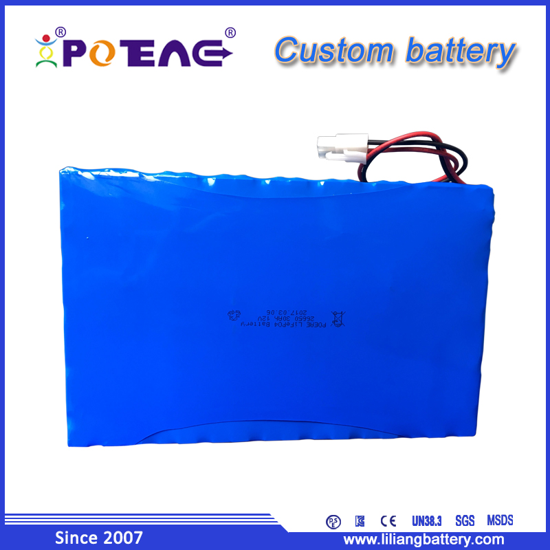 capacity high 30Ah 12 volt lithium ion lifepo4 battery pack for security camera