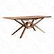 Walnut solid wood and veneer Modern Extendable dining table