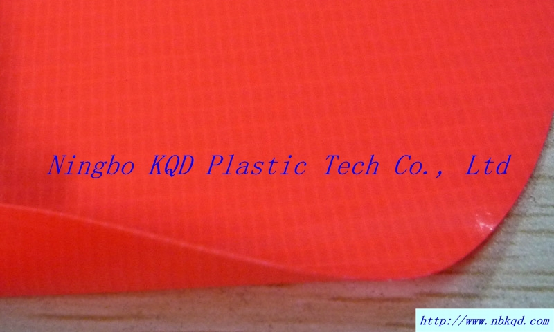 Fluorescent NFPA701 FR PVC Laminated Fabric for banner/tent