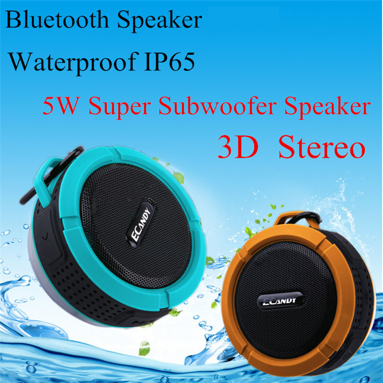 Black Portable Square Bluetooth Wireless Boombox Stereo Speaker E820 For Smart Phone Tablet