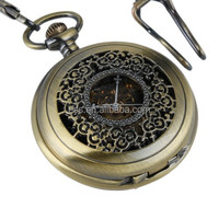 WP082 Fashion Roman Numeral Cased Antique Pocket Watch OEM Available