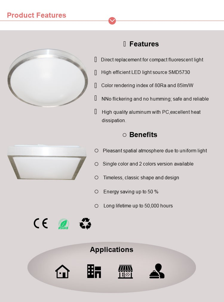 round led ceiling lamp surface mount led ceiling light 12w 300mm led flush mount ceiling light