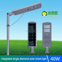40w integrated durable solar street LED light with infrared sensor/die-casting aluminum Landscape