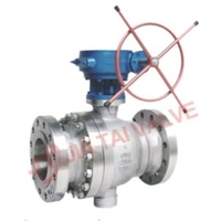 Stainless Steel WCB API DIN BS JIS GB Trunnion Type Ball Valves