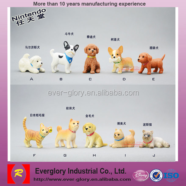 custom small plastic dog figurines,plastic toy dog model,moving toy dog