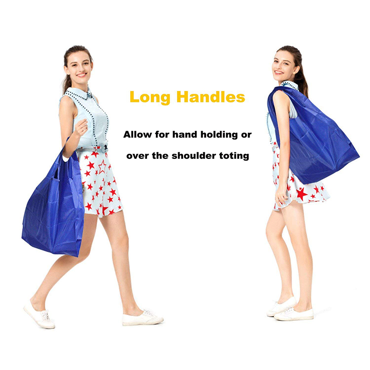 Reusable Washable Durable and Lightweight Grocery Nylon Tote Shopping Bag