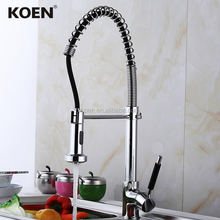 Chromed China Brass Kitchen Faucet Mixers with Pull out down Spray
