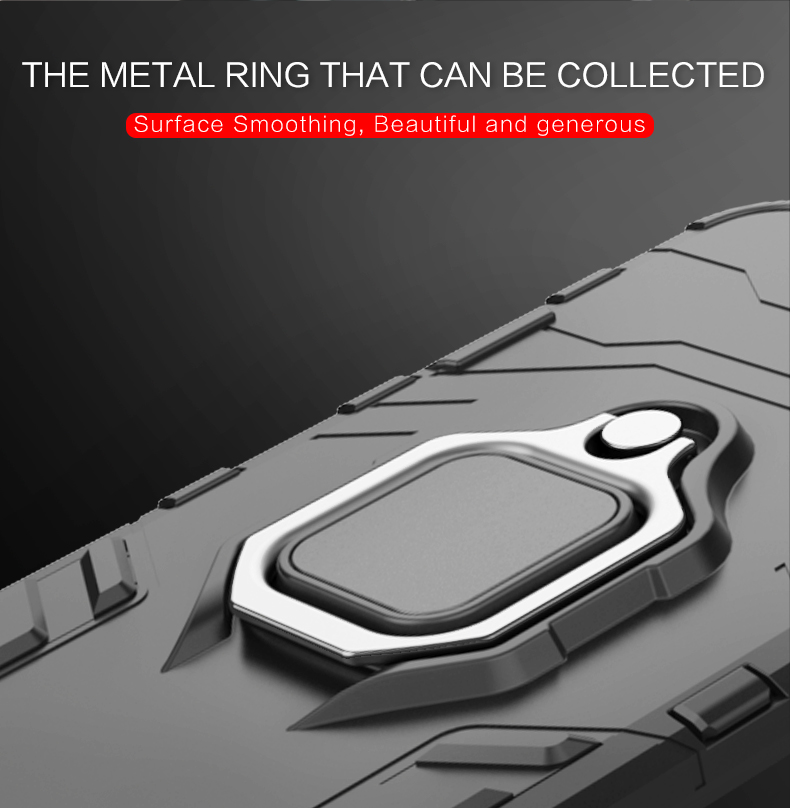 New product anti-scratch magnetic ring tpu pc mobile back case for realme x phone case