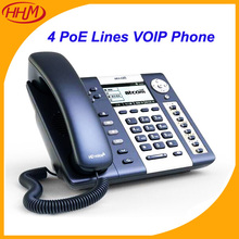 R2(Rainbow 2) POE VOIP SIP Phone 4 SIP Accounts TIA920 HD Voice Elastix Office Business IP Telephone, Desktop Phone