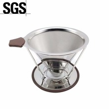 best paperless coffee dripper with double layer fine mesh for decanter&brewe with ISO FDA SGS