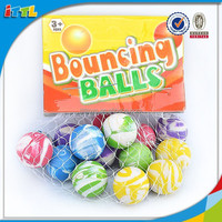 27mm Hot selling bouncing ball mixed color toy jumping pop sport balls rubber bouncing ball toys