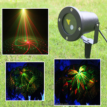 NEW Mini Outdoor /Indoor Laser Light 8 Patterns RG Lighting Projector Show Outside Wireless Landscape Garden Home Xmas Palm Tree