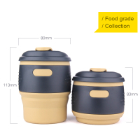 Wholesale french press plastic travel mug with lid and straw