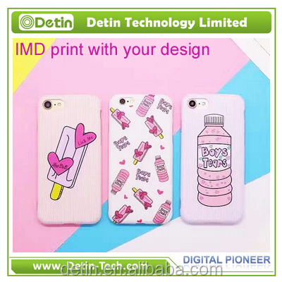 Mobile cover printer printing machine for iphone IMD case kinds of design