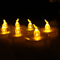 top selling candle mini led tealight candle with a yellow flashing candle