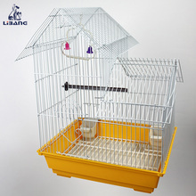 Multi-color Foldable Iron Wire Bird Cage With Plastic Tray