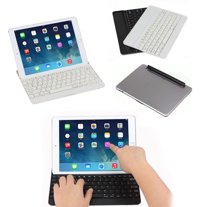 detachable bluetooth keyboard leather tablet cover case for apple iPad Air 2
