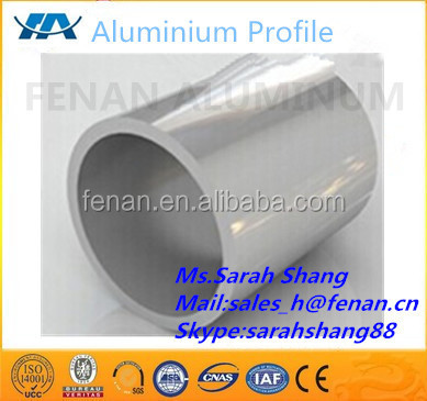 Low price extruded bright anodized large diameter aluminum pipe