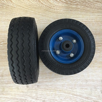 6 inch small PU foam solid wheel for cart