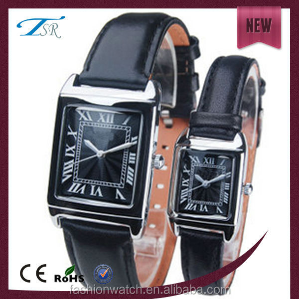 IP Black alloy rectangular watches good quality at cheap price with customer logo 3atm water resistant