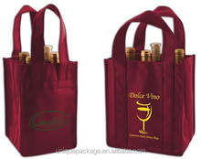 Promotional non woven wine bottle carrier