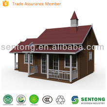 European Style Single Floor Wooden House