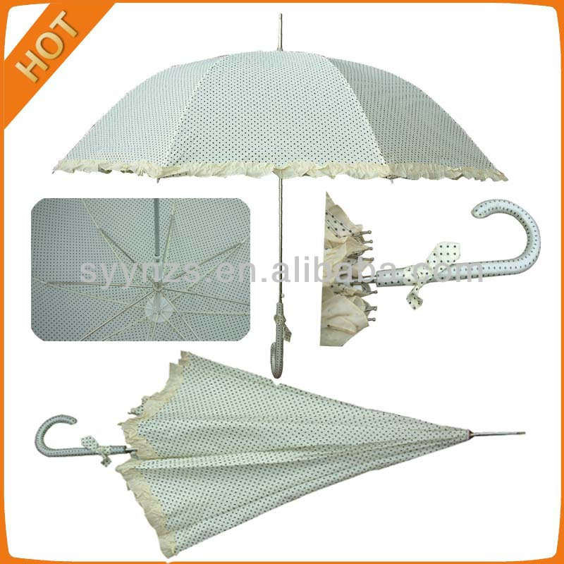 23'' Apollo Auto Open Umbrella With Lace