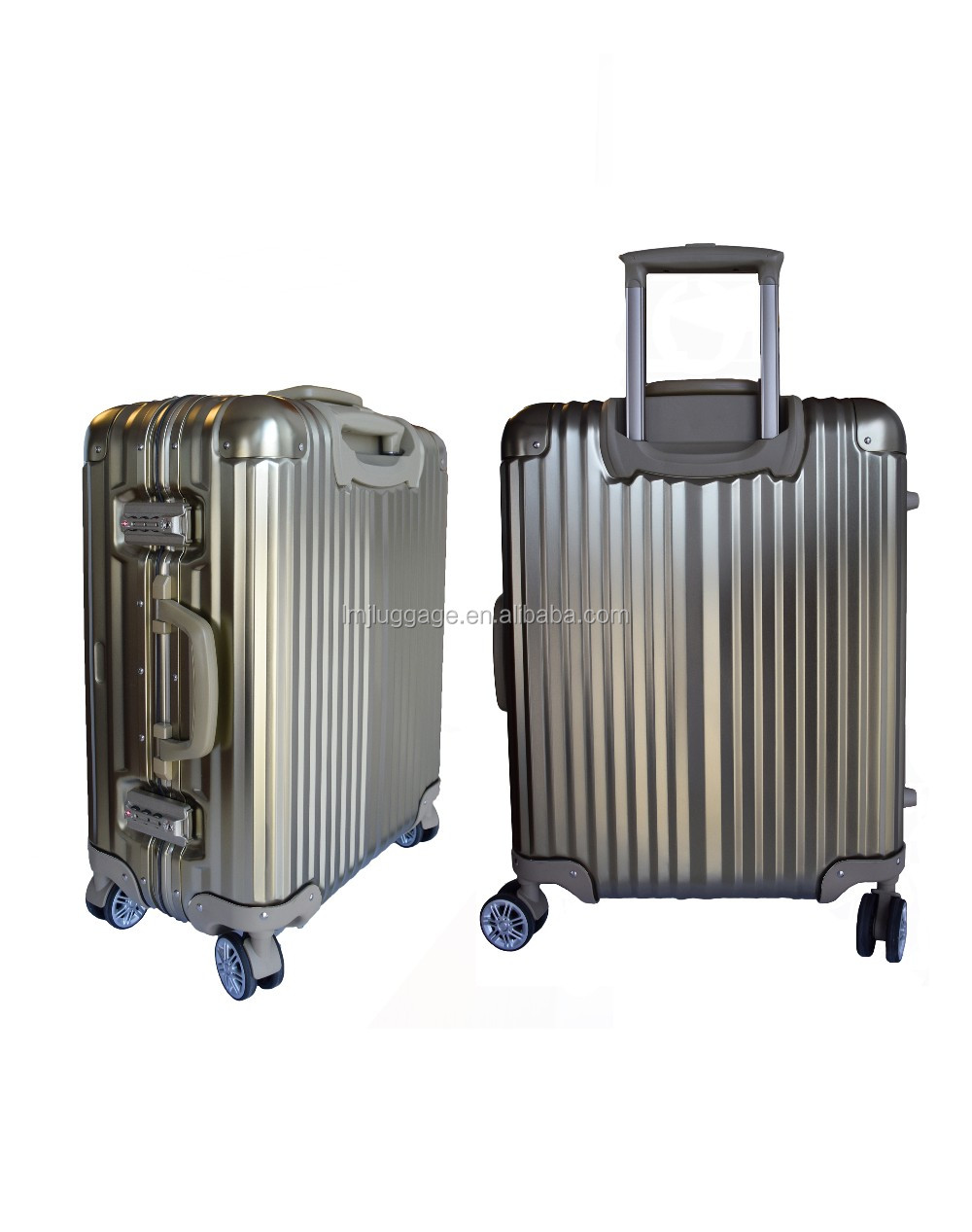 New Products Hard Shell Luggage Aluminium Frame Luggage