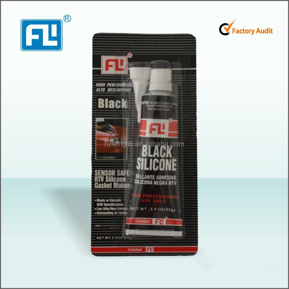 Hangzhou fenglei brand liquid silicone glue RTV silicone rubber adhesive with customer lable