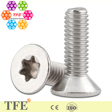 A2 stainless steel torx countersunk head machine screws SS304/316