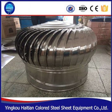 warehouse vent 201stainless steel natural force non wind power turbine roof ventilator