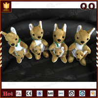Safety to kids plush kangaroo toy mum and baby