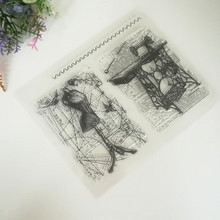 Scrapbook DIY photo cards account rubber stamp clear stamp transparent stamp 15*18cm