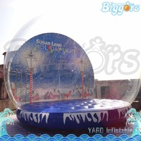 Fashion Christmas Decoration Inflatable Snow Globe With Blowing Snow