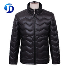 QUALITY Custom Wholesale Fashion Design Black Outdoor Shiny Puffy Winter Wears Mens Light Down Jacket