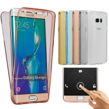 Wholesale Custom TPU Clear transparent Soft Full Cover Phone Case For Samsung Galaxy S4 S5 S6 S7 S8