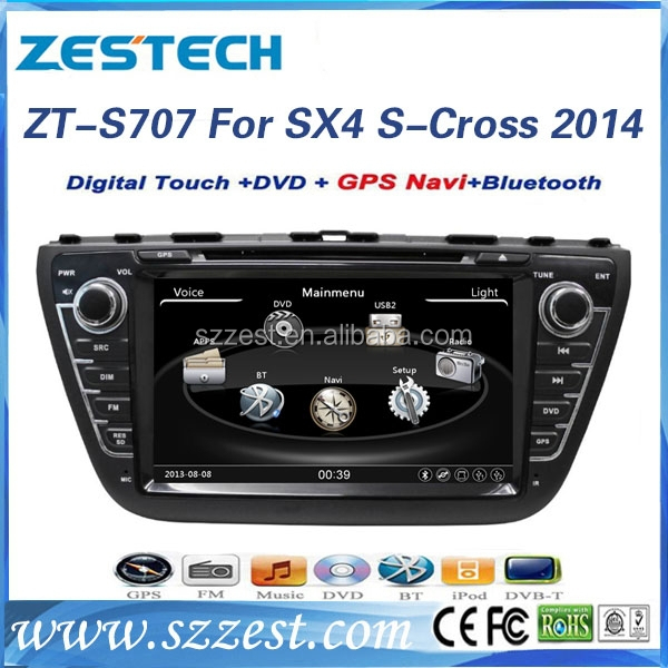 Car dvd gps navigation system for Suzuki SX4 S-Cross 2014 car accessories