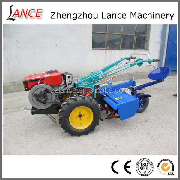 hot sale La-T12 used japanese farm tractor with rotary plough and tiller