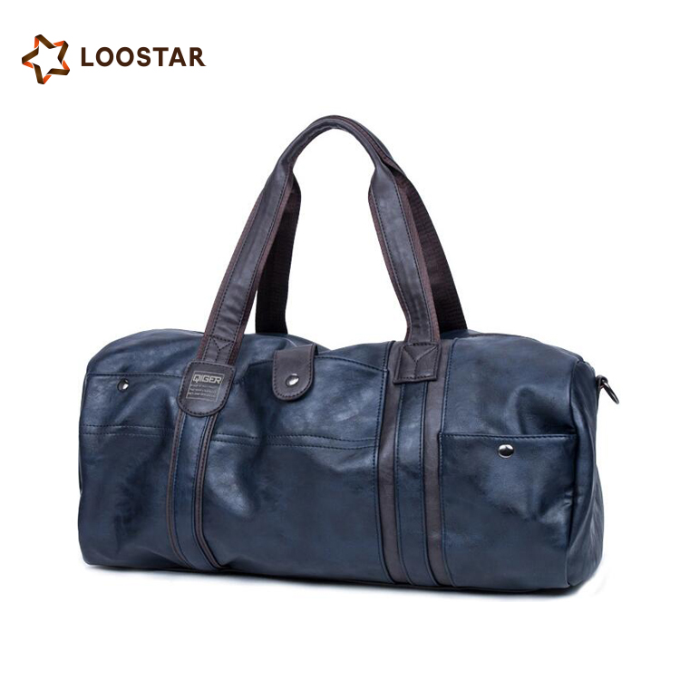 Wholesale Cheap PU Leather Fashionable Mens Duffle Bag