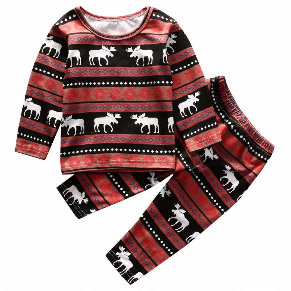 GG200A unisex baby boys girls high quality Christmas clothes set kids clothes set
