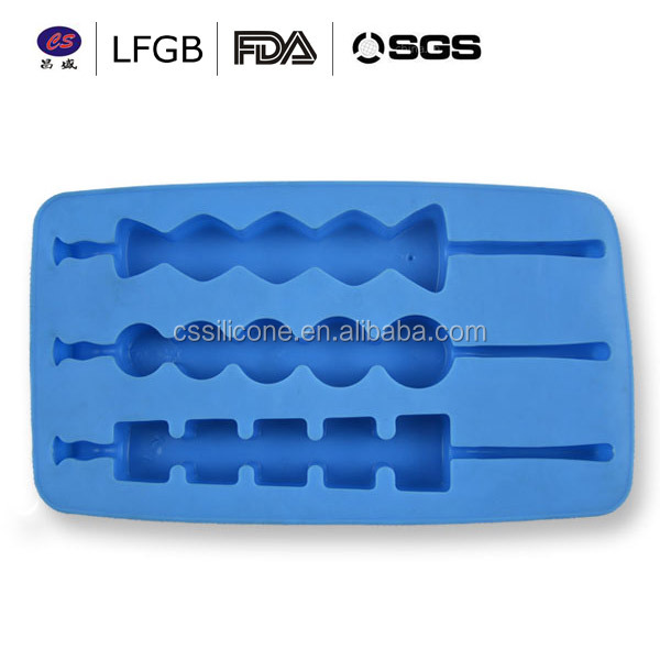 China manufacturer hot selling high quality non-stick silicone ice mould ice cube tray
