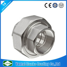drawing fitting threaded Stainless Steel 304 taper seat union pipe Fitting