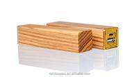 Wooden Powerbank 2600mah / Battery Power Pack Lipstick Charger