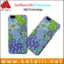 Flower printing IML plastic mobile phone cover for iphone 5 5S