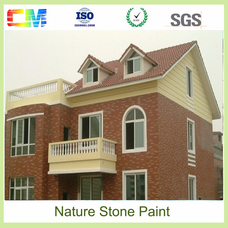 Use real stone material to make natural stonework effect texture wall coating