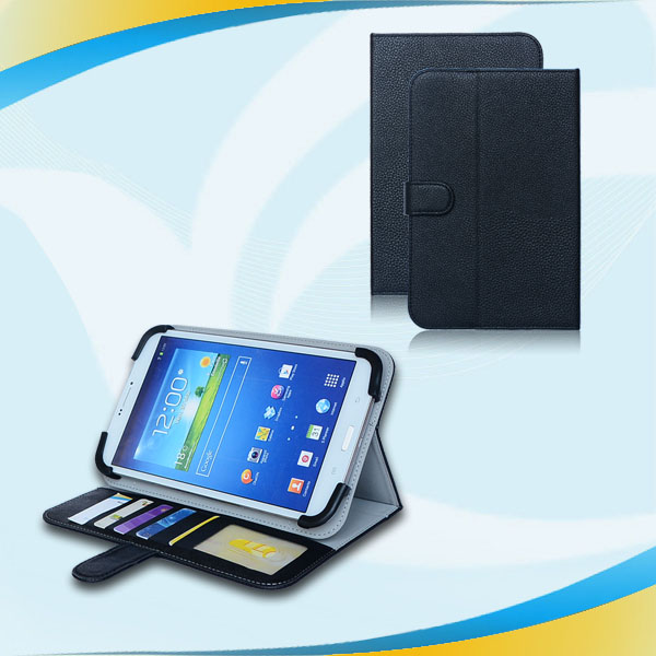 Slim Leather Flip Wallet Style & Hard Rubber eva case for 7 inch tablet pc